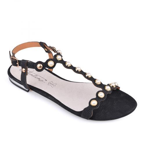 дамски ежедневни сандали черни 0134073