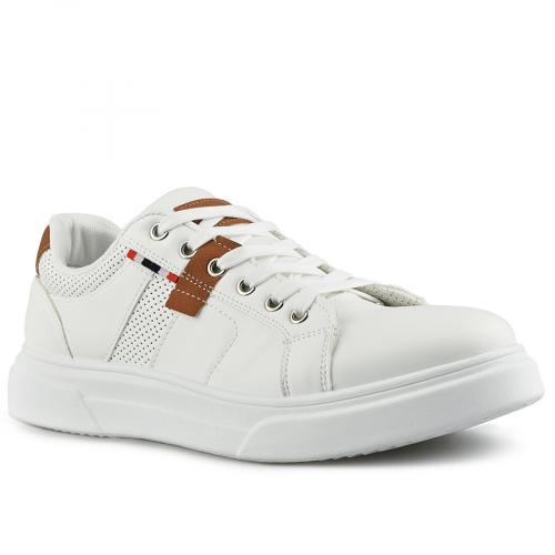 мъжки ежедневни обувки бели 0142629