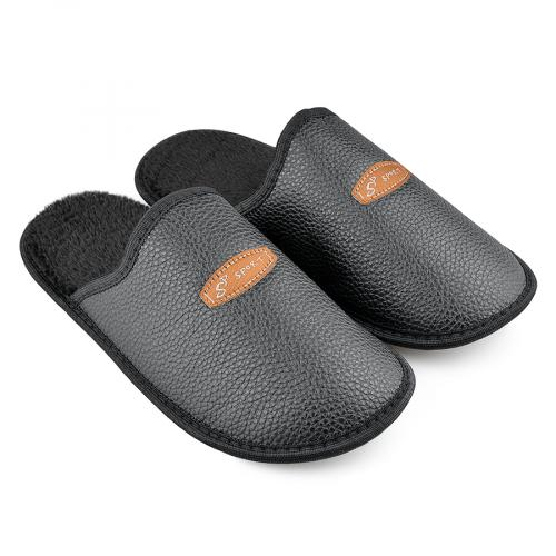 мъжки пантофи черни 0138550