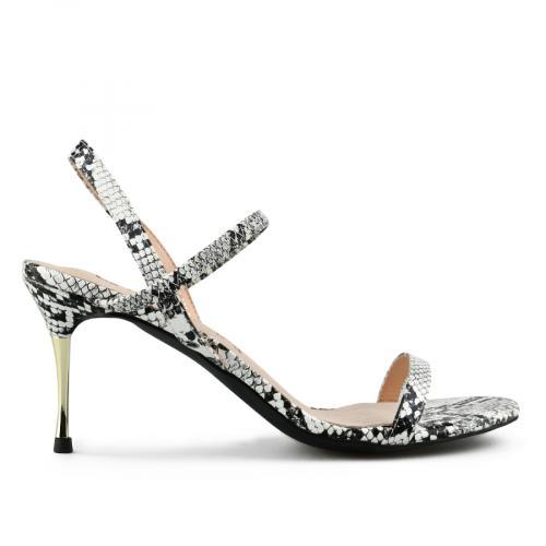 дамски елегантни сандали бели 0143185