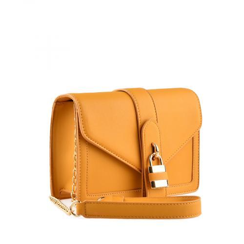 дамска ежедневна чанта тъмно жълта  0139915