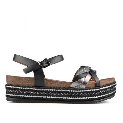 дамски ежедневни сандали черни 0137663