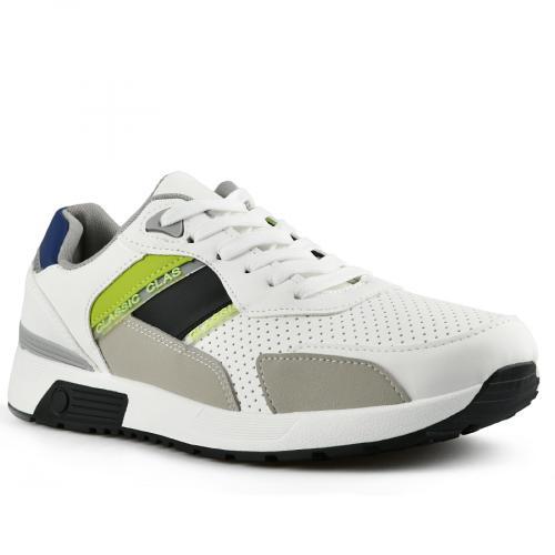 мъжки ежедневни обувки бели 0142617