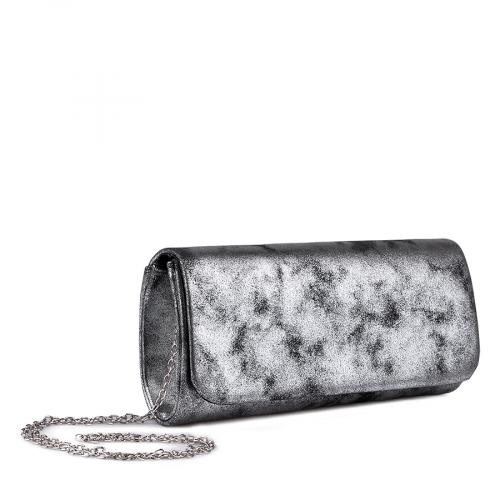 дамска елегантна чанта сребриста 0134382