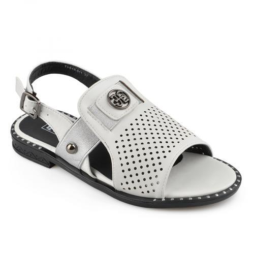 дамски ежедневни сандали бели 0137008
