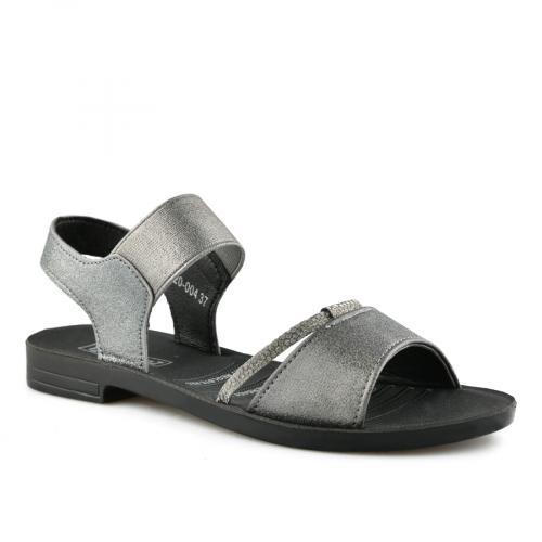 дамски ежедневни сандали сребристи 0140558