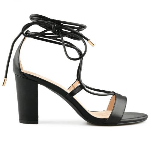 дамски елегантни сандали черни 0140468