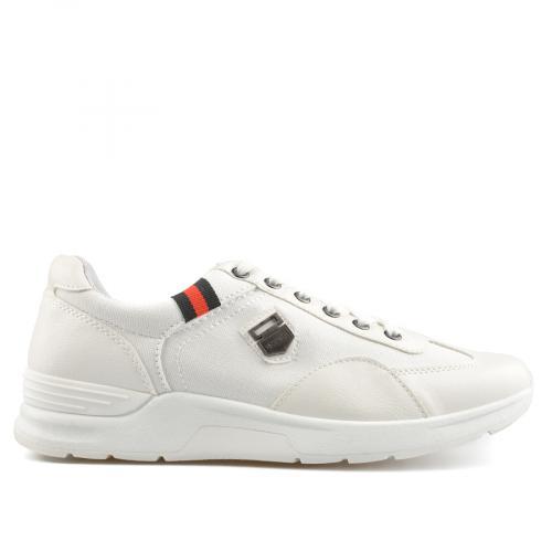 мъжки ежедневни обувки бели 0136917