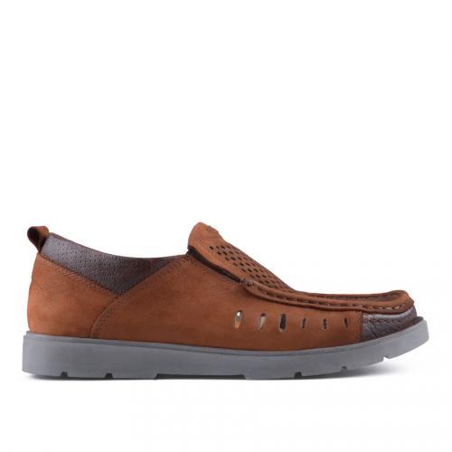 мъжки ежедневни обувки кафяви 0127524