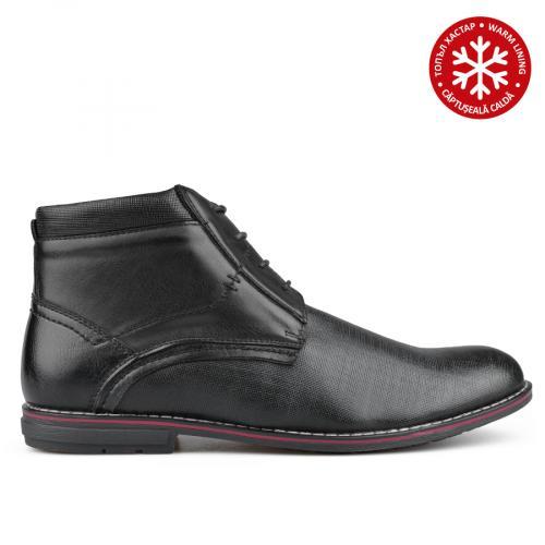 мъжки ежедневни боти черни с топъл хастар 0135751