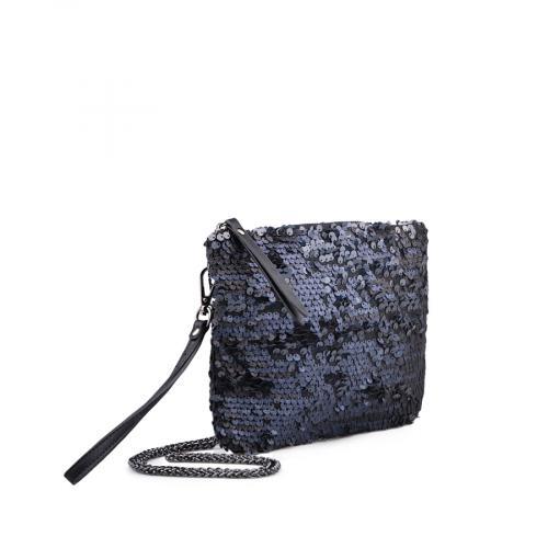 дамска елегантна чанта тъмно синя 0134323