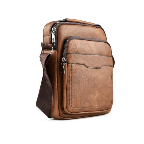 мъжка ежедневна чанта кафява 0141588