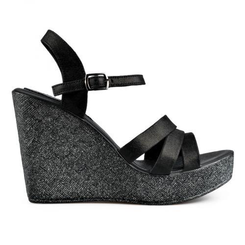 дамски ежедневни сандали черни 0138530