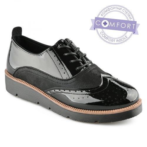 дамски ежедневни обувки черни 0141536