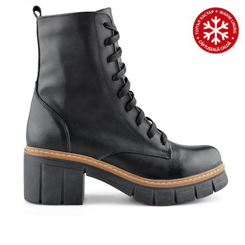 дамски ежедневни боти черни с топъл хастар 0139431