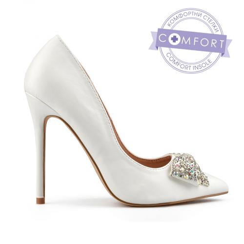 дамски елегантни обувки бели 0137456