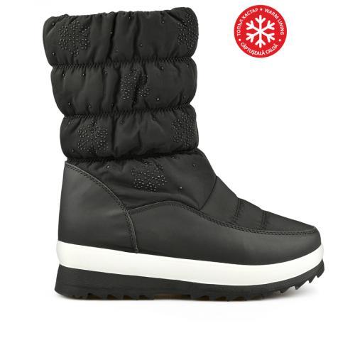 дамски ежедневни ботуши черни с топъл хастар 0144740