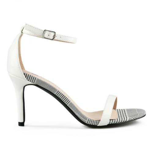 дамски елегантни сандали бели 0142892