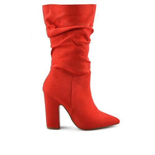 дамски елегантни боти червени 0139016