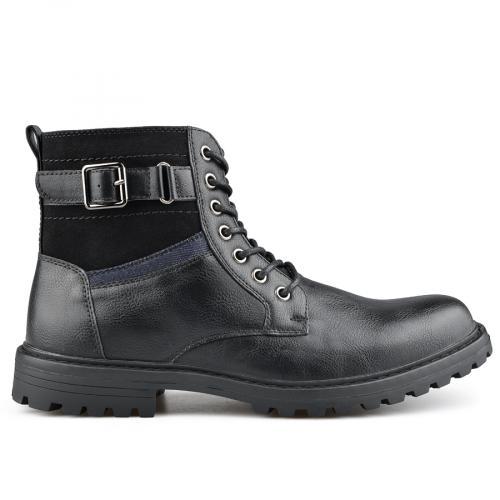 мъжки ежедневни  боти черни 0139401