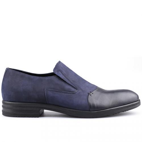 мъжки елегантни обувки тъмно сини 0126047