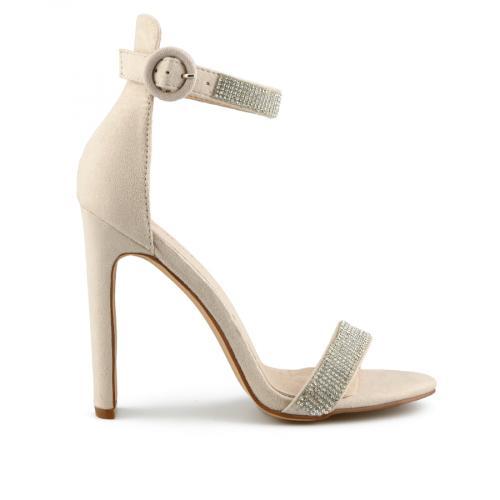 дамски елегантни сандали бежови 0140053