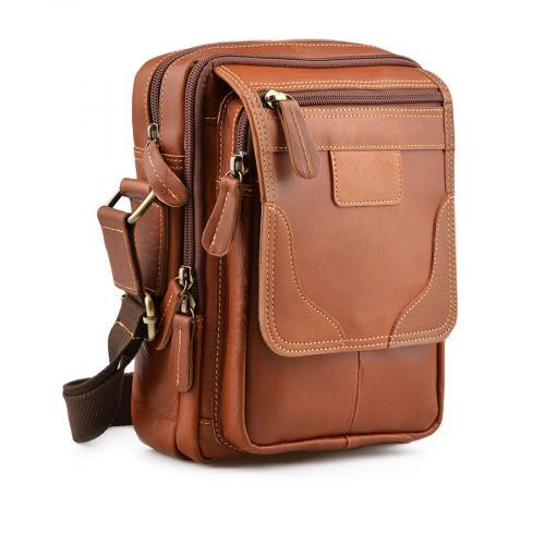 мъжка ежедневна чанта кафява 0138053