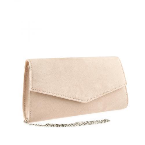 дамска елегантна чанта бежова 0140891