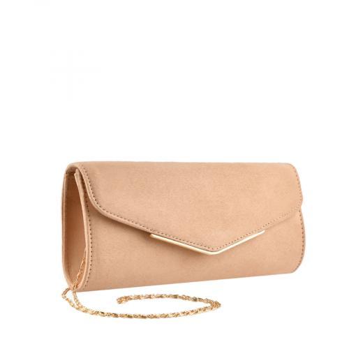 дамска елегантна чанта бежова 0139857