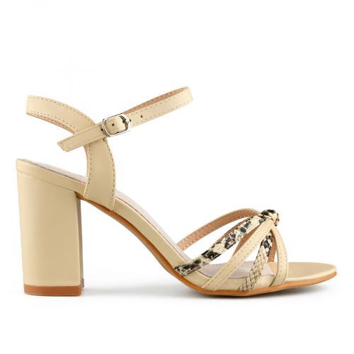 дамски елегантни сандали бежови 0140708