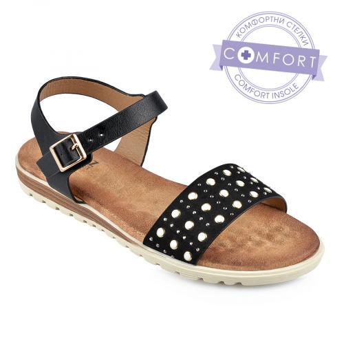 дамски ежедневни сандали черни 0137325