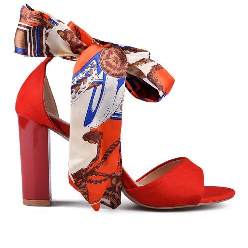 дамски елегантни сандали червени 0134633
