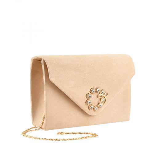 дамска елегантна чанта бежова 0139894