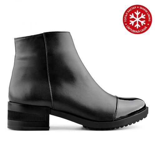 дамски ежедневни боти черни с топъл хастар 0139413