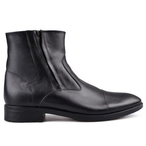 мъжки елегантни боти с топъл хастар черни 0130683