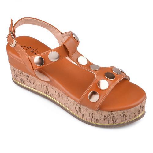 дамски ежедневни сандали кафяви 0134571