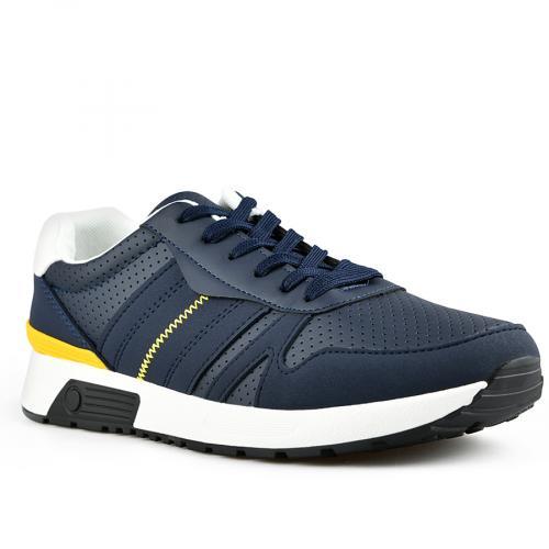мъжки ежедневни обувки сини 0142619