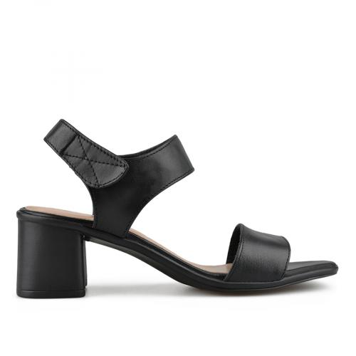 дамски елегантни сандали черни 0138457