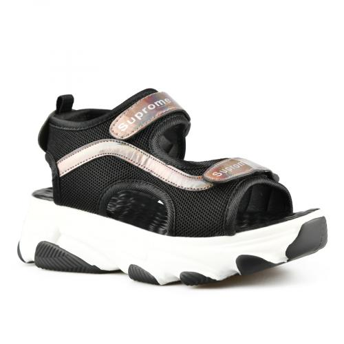 дамски ежедневни сандали черни 0143402