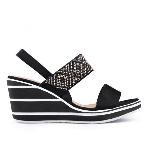 дамски ежедневни сандали черни 0134361