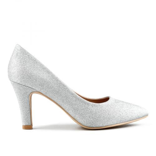 дамски елегантни обувки сребристи 0143299