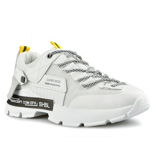 мъжки ежедневни обувки бели 0142632