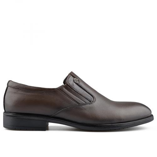 мъжки елегантни обувки кафяви 0139480