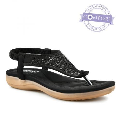 дамски ежедневни сандали черни 0140796