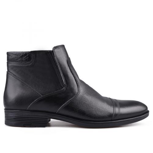 мъжки елегантни боти с топъл хастар черни 0130686