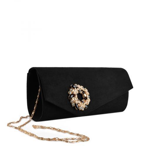 дамска  елегантна чанта черна 0136760