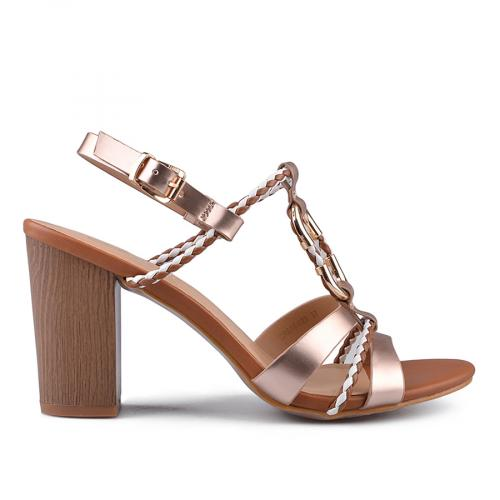 дамски елегантни сандали златисти 0133749
