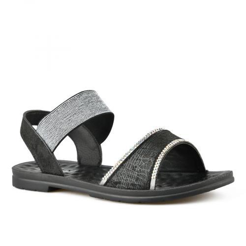 дамски ежедневни сандали черни 0143389