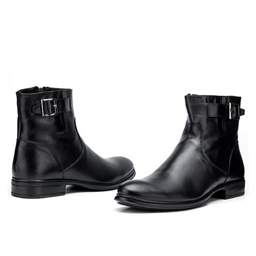 мъжки елегантни боти черни 0119499