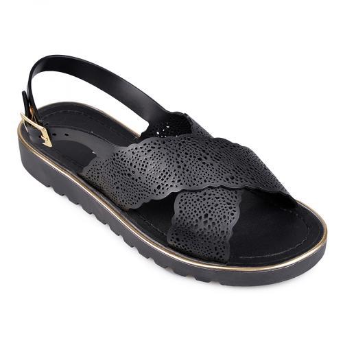 дамски ежедневни сандали черни 0130346